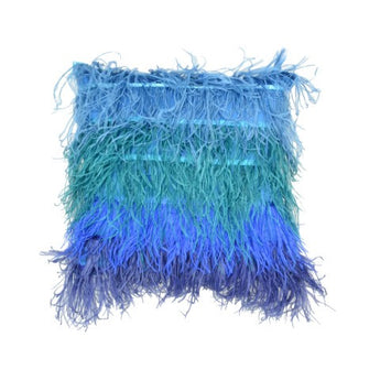Ombre Blue Feathers