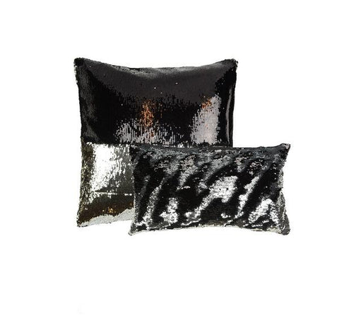 Mermaid Sequins in Black/Silver