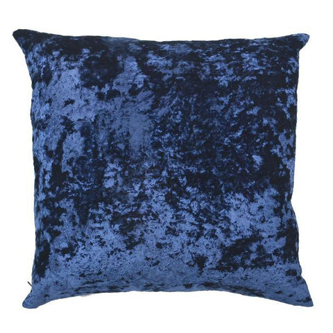 Crushed Velvet Pillow in Royal Blue