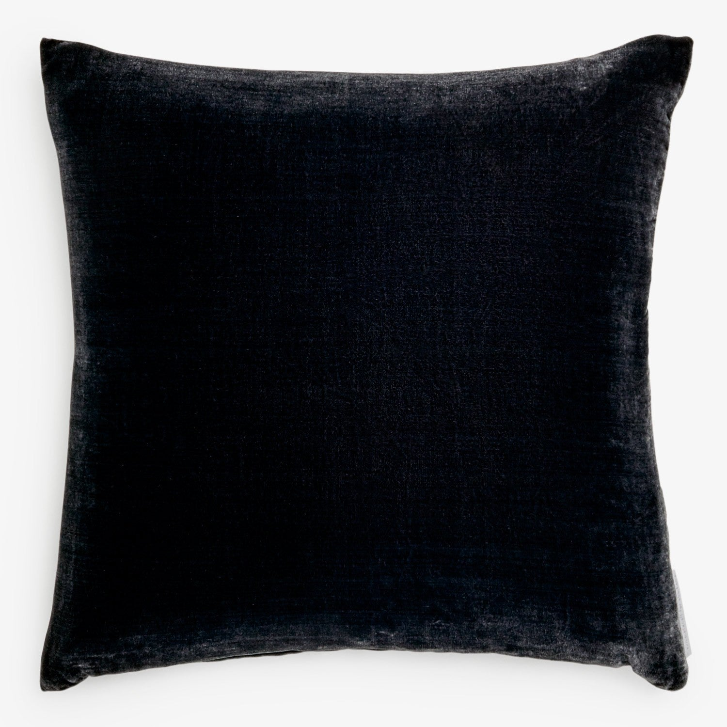 Solid Silk Velvet in Charcoal