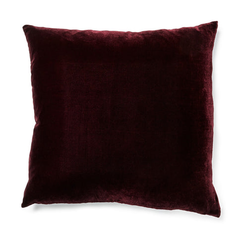 Solid Silk Velvet in Eggplant