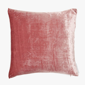 Solid Silk Velvet in New Rose
