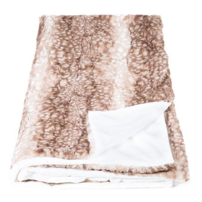 Ocelot/Fawn Faux Fur Throw