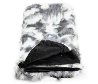 Tie Dye Fox Black/White