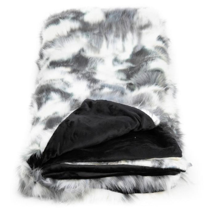 Tie Dye Fox Black/White Throw