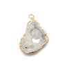 Geode Ornament in White with Gold Detail