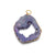 Sliced Geode Ornament Purple with Gold