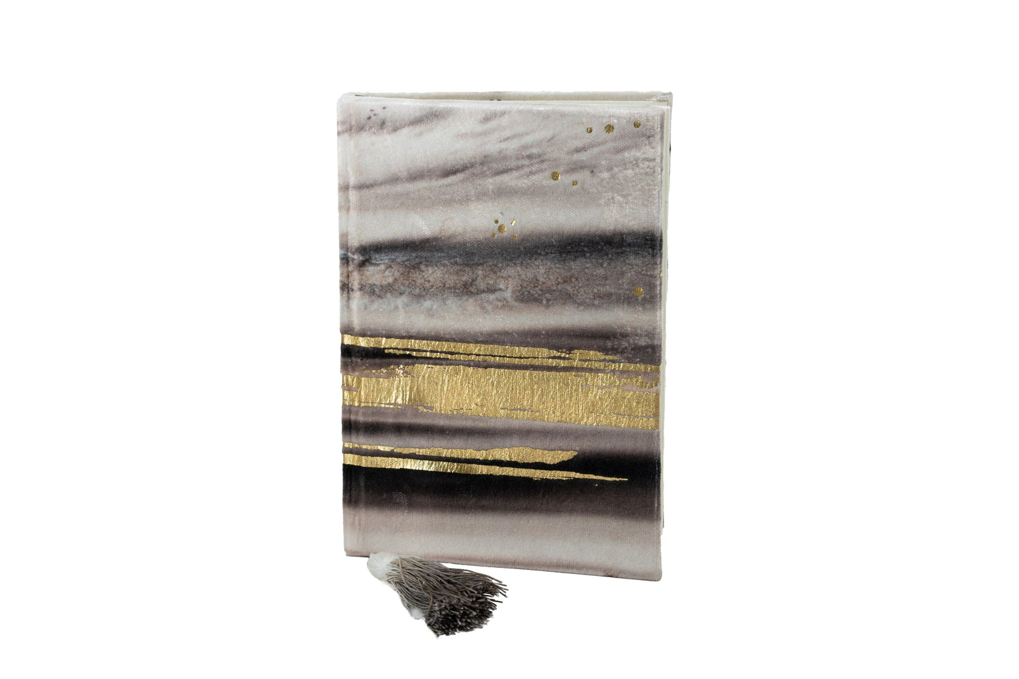 "Notebook | Gravity in Smokey Quartz with Gold 4""x 6"""