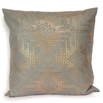 Rose Gold Aztec Lace on Grey