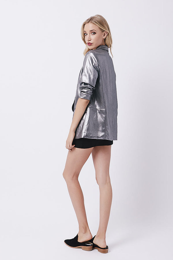 Galaxy Boyfriend Blazer - Metal