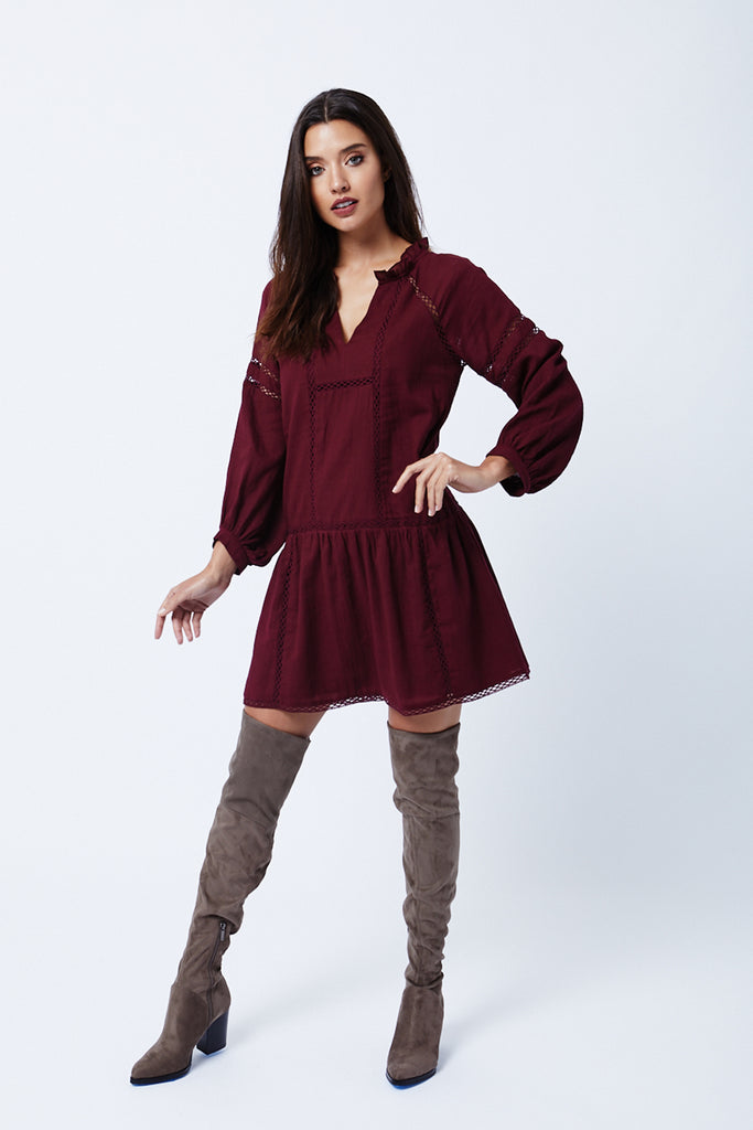 Ravine Dress - Ox Blood