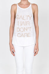 Salty Hair Don'T Care Beaded Tank
