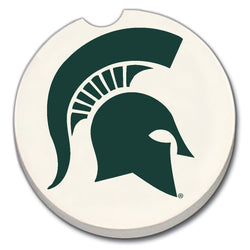 MSU Car Coaster - Sparty Head