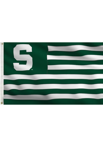 3x5 Silk Screen Flag - Spartan Stripes