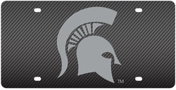 MSU Carbon Fiber Acrylic License Plate