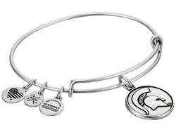 MSU Expandable Wire Bangle - Silver