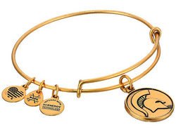 MSU Expandable Wire Bangle - Gold