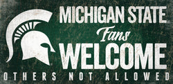 "MSU 6""x12"" Fans Welcome Sign"