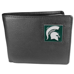 MSU Leather Bi-Fold Wallet