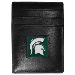 MSU Leather Money Clip/Card Holder