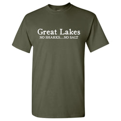 No Sharks No Salt T-Shirt - Military Green