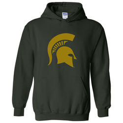 Sparty Logo Hooded Sweatshirt - Forest/Copper