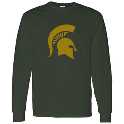 Sparty Logo Long Sleeve T-Shirt - Forest/Copper