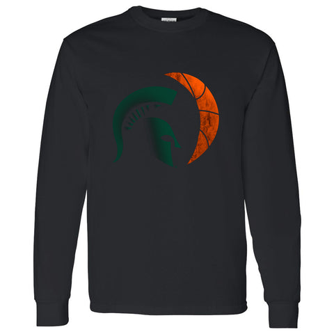 Eclipse Basketball Long Sleeve T-Shirt - Black