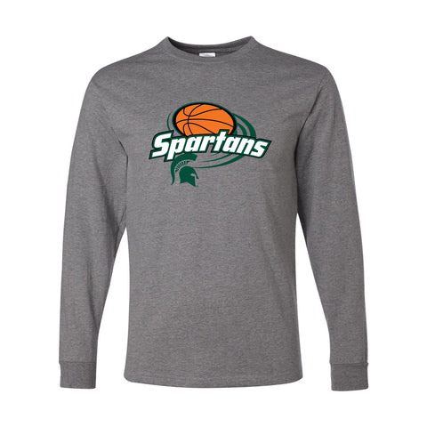 Motion Basketball Long Sleeve T-Shirt - Oxford