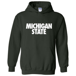 Michigan State Text Hooded Sweatshirt - Forest