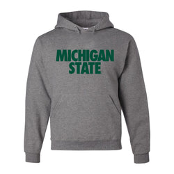 Michigan State Text Hooded Sweatshirt - Oxford