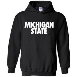 Michigan State Text Hooded Sweatshirt - Black