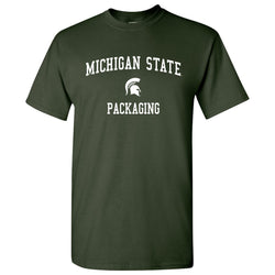 Michigan State Packaging T-Shirt - Forest