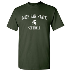 Michigan State Softball T-Shirt - Forest