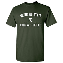 Michigan State Criminal Justice T-Shirt - Forest