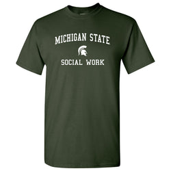 Michigan State Social Work T-Shirt - Forest