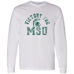 Victory for MSU Long Sleeve T-Shirt - White