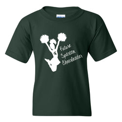 Youth Future Cheerleader T-shirt - Forest