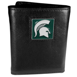 MSU Leather Tri-Fold Wallet