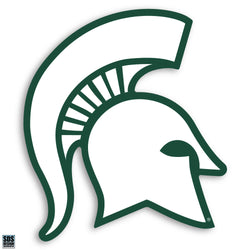 "2"" Sparty Dizzler Decal - White"