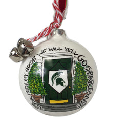 MSU Bell and Ribbon Ornament