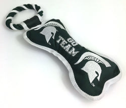 MSU Bone w/Rope Toy