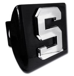 Block S on Black Hitch Cover