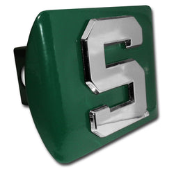 Block S on Green Hitch Cover