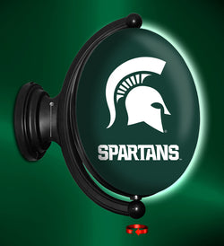 Rotating MSU Sign - Oval