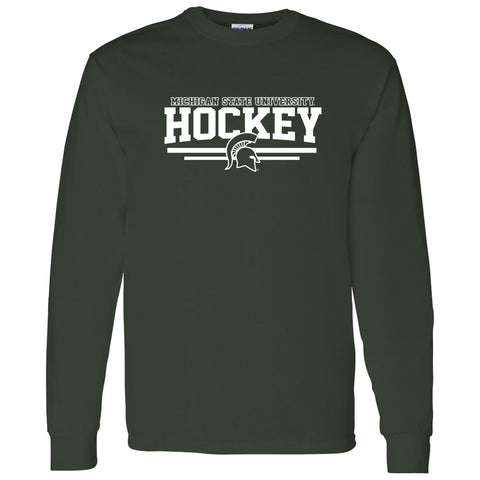 Forecheck Hockey Long Sleeve T-shirt - Forest