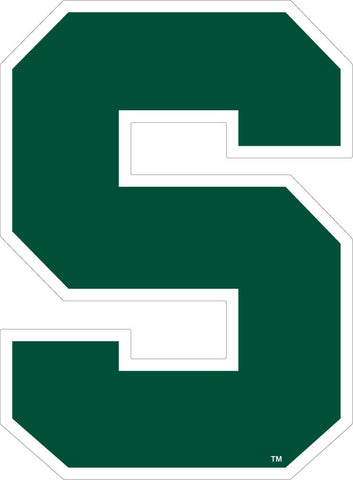 Green Block S Decal - 6""
