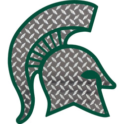 Diamond Plate Sparty Decal - 3""