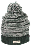 Exposure Slouched Ribbed Pom Hat