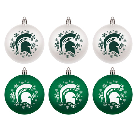 6-Pack Home and Away Shatterproof Ornament Set
